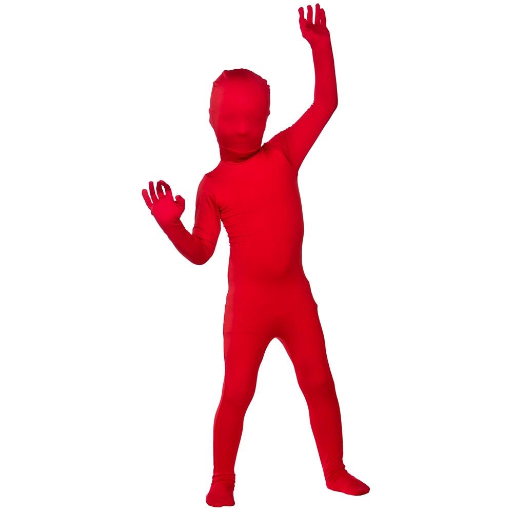 FANCY DRESS COSTUME SKINZ LYCRA BODYSUIT RED SM