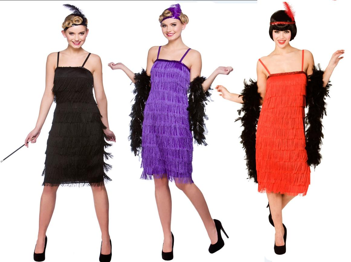1920s Jazzy Flapper Ladies Fancy Dress Costume Roaring 20s Charleston Outfit