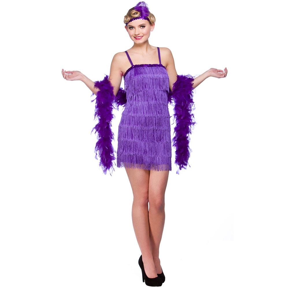 1920's Showtime Flapper Ladies Fancy Dress Costume Roaring ...