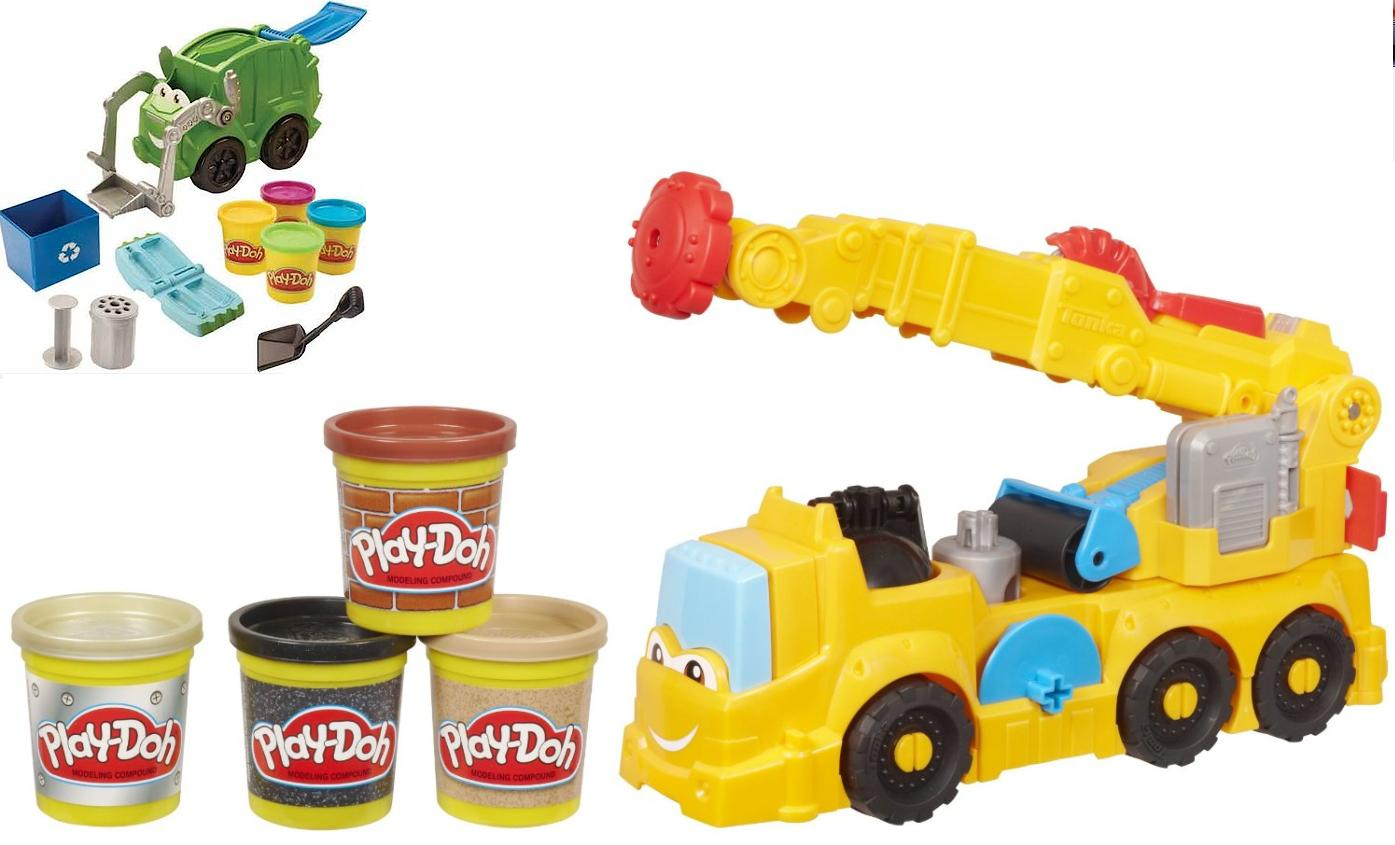 Play Doh Diggin Rigs Garbage Truck Amp Power Crane Includes