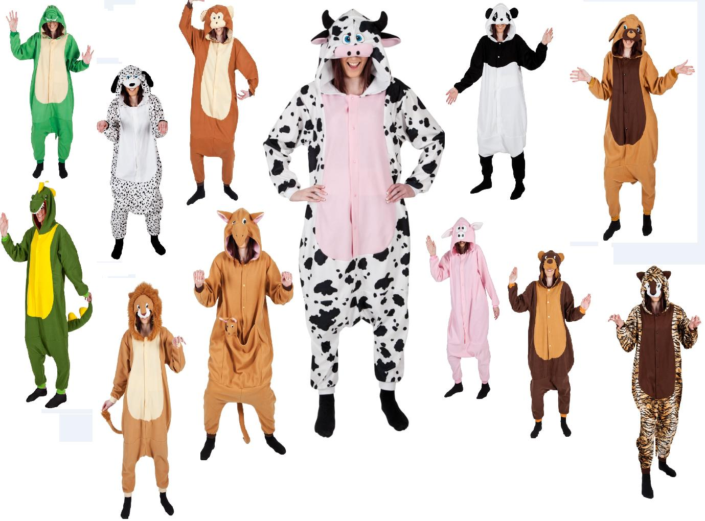 Onesie Adults Animal Fleece Onesies Fancy Dress Costume Ladies Mens Outfit OS
