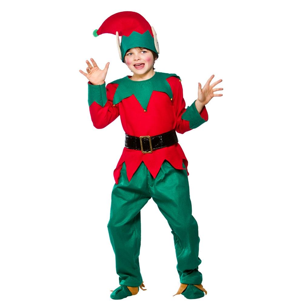 christmas elf ladies fancy dress costume mens childrens xmas elfs