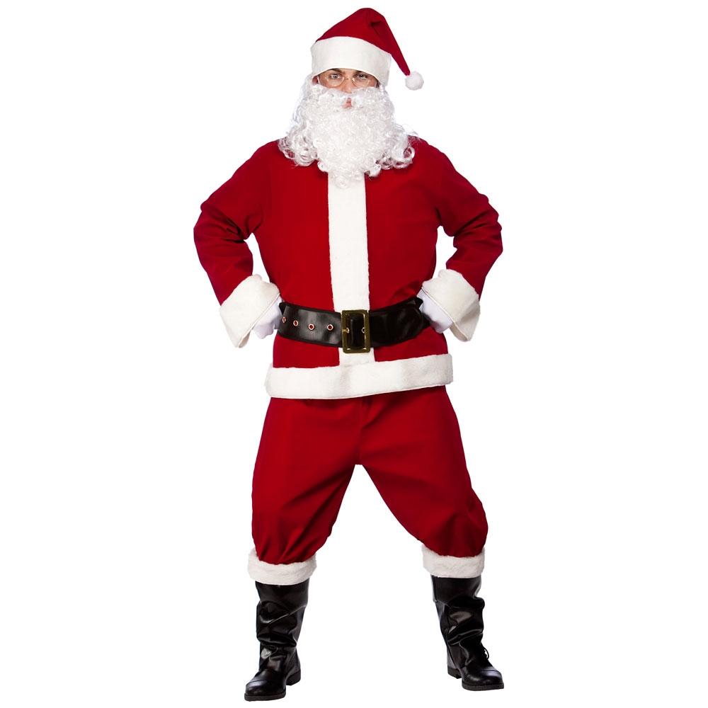 Santa fancy dress costume mens ladies christmas