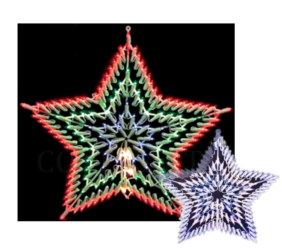 Christmas silhouette window star light 100 indoor chasing for 18 lighted christmas tree with stars window silhouette decoration