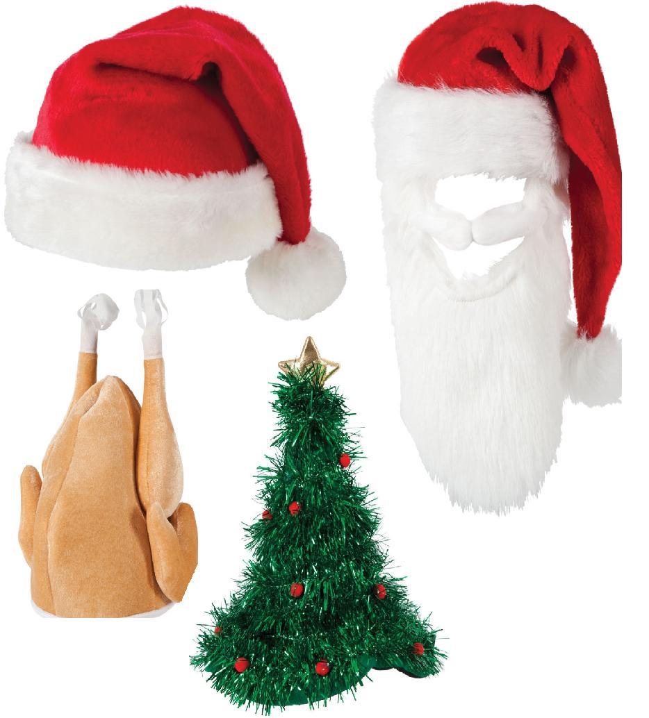 Christmas hats novelty xmas fancy dress party accessory
