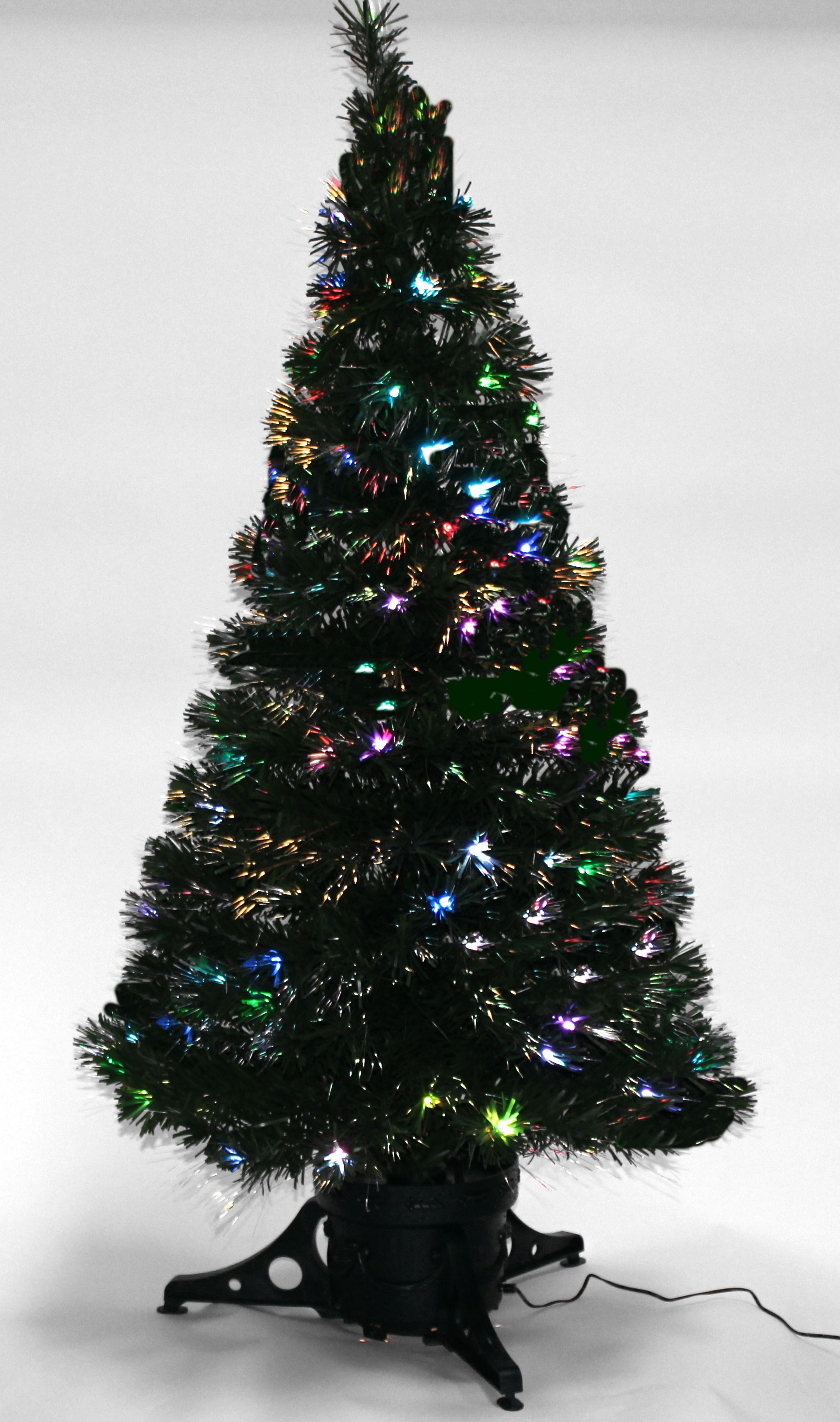 Green-Fibre-Optic-Christmas-Tree-Multi-LED-Lights-4ft-5ft-Artificial-Indoor-Tree