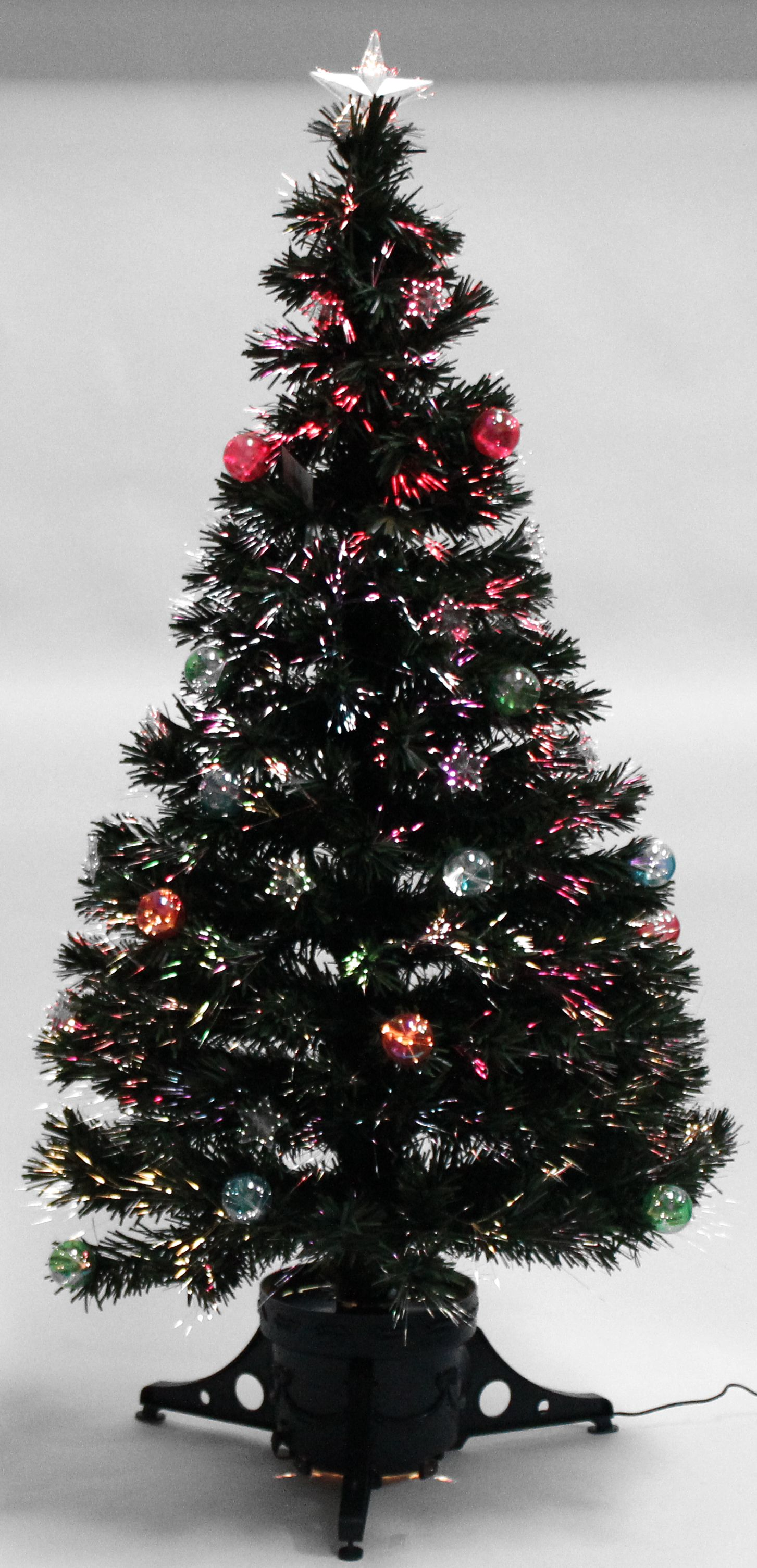 Christmas Tree 4ft 5ft 6ft Green Fibre Optic Star And ...