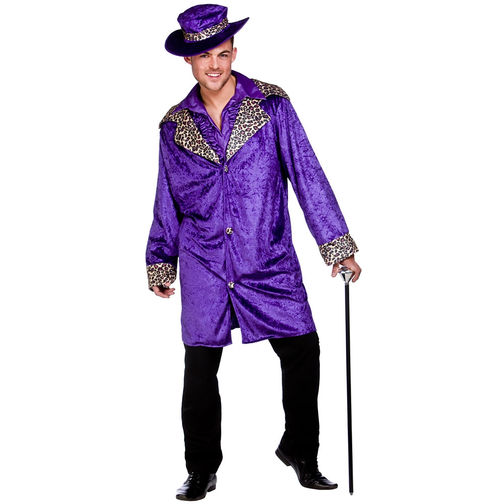 Pimps 70s 80s Outfit Mens Pimp Daddy Gangaster Fancy Dress Outfit ...