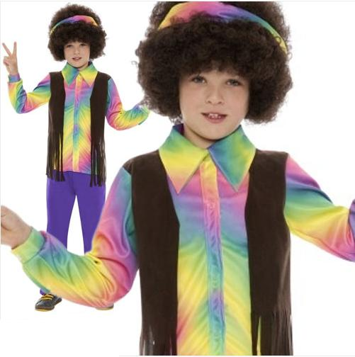 88aff630810 Hippie Boys Fancy Dress Costume 60 s 70 s Hippy Book Week Kids ...