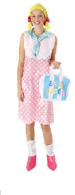 Looby Loo Ladies Fancy Dress Costume Licensed Andy Pandy Outfit + Bag Size 8/10