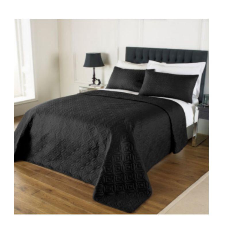 plain matelass jet de lit couvre lit double king combi 240x260cm 2 oreiller shams. Black Bedroom Furniture Sets. Home Design Ideas