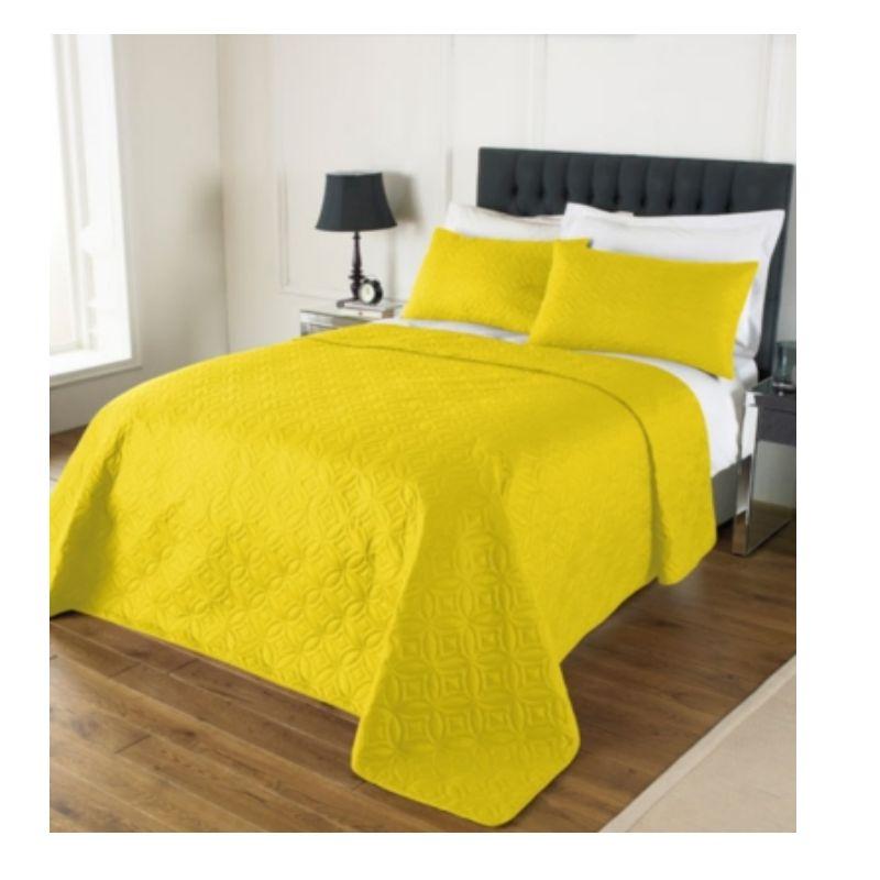 plain matelass jet de lit couvre lit double king combi 240x260cm 2 oreiller shams ebay. Black Bedroom Furniture Sets. Home Design Ideas