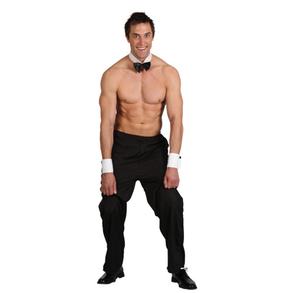 Male Stripper Fancy Dress Costume Stag Strippers Butlers Outfit + Thong Small | eBay