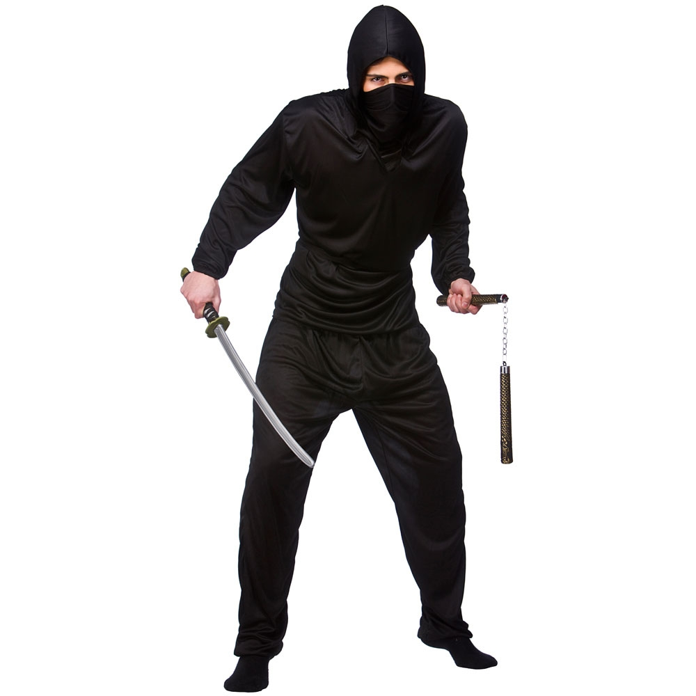 MENS NINJA WARRIOR FANCY DRESS COSTUME JAPANESE ADULT COSTUME MARTIAL OUTFIT | eBay