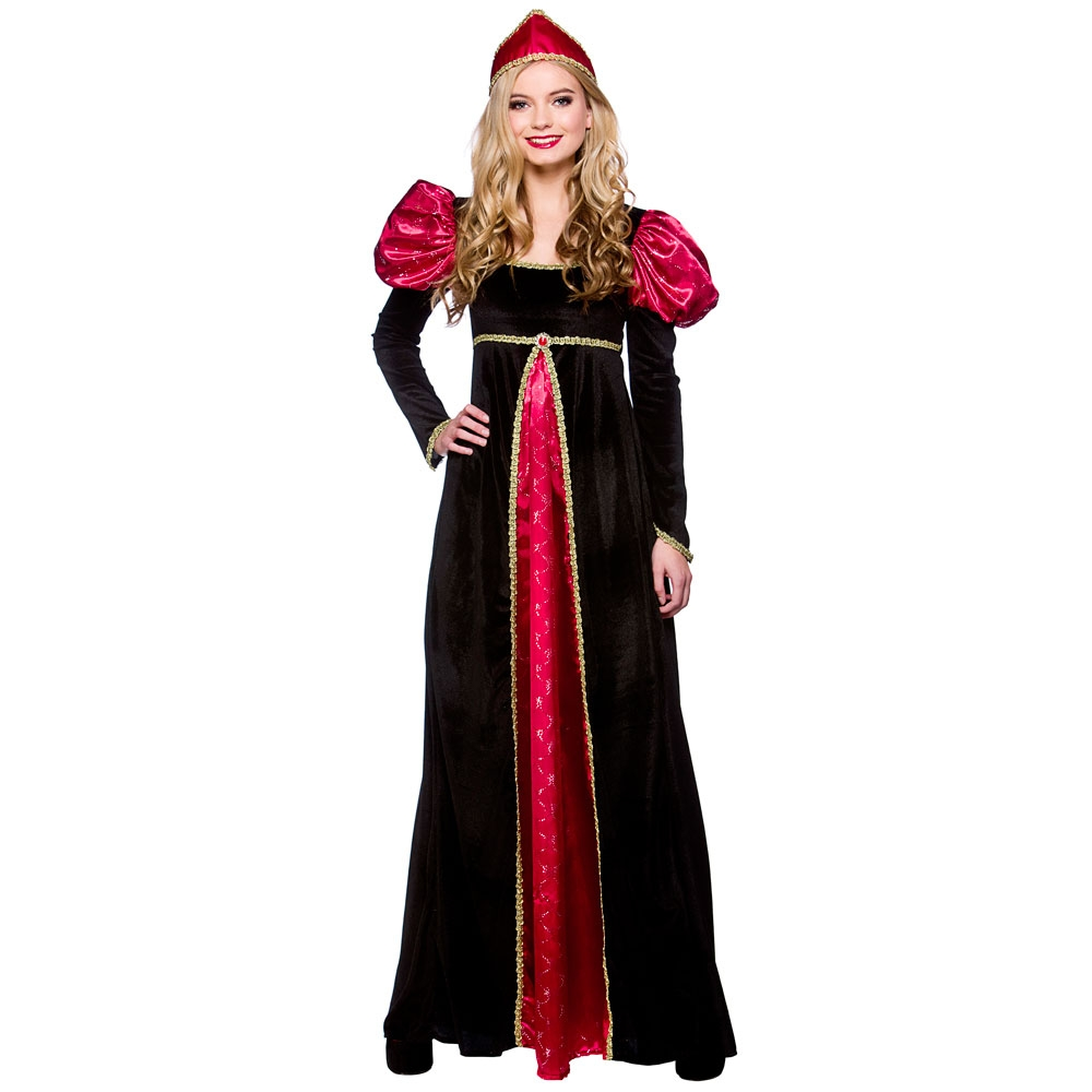 Medieval Queen Ladies Tudor Medieval Fancy Dress Costume Renaissance 10/24 New