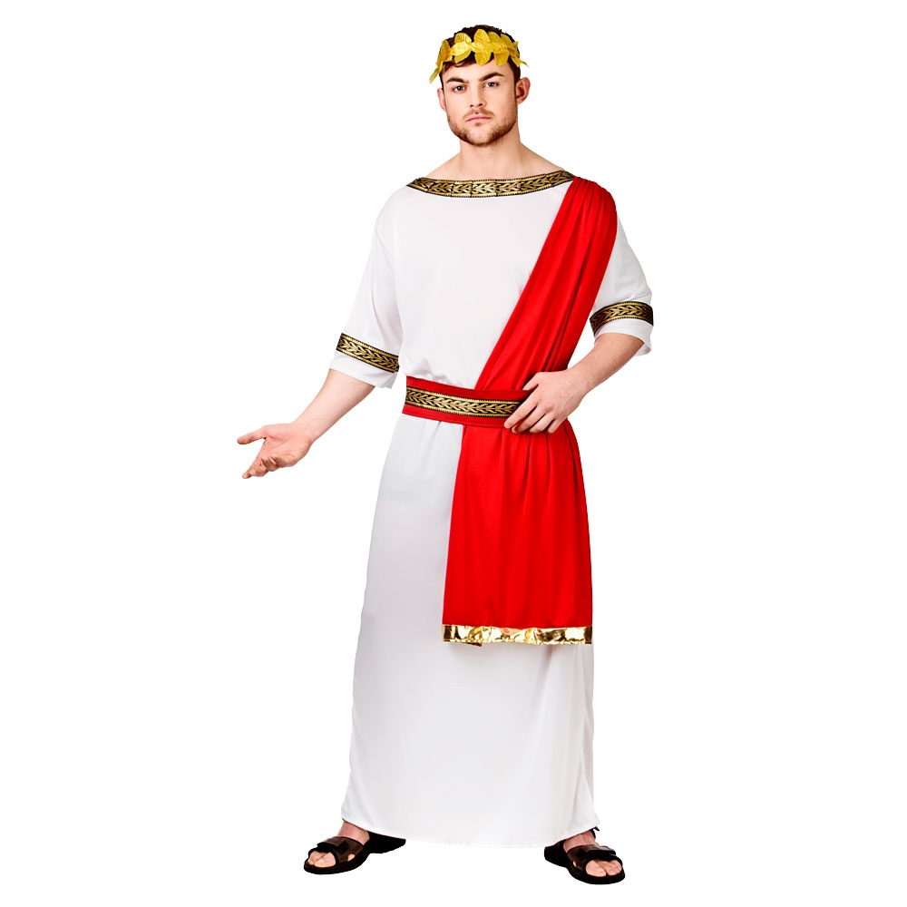roman emperor julius caesar toga party gents fancy dress outfit new ebay. Black Bedroom Furniture Sets. Home Design Ideas