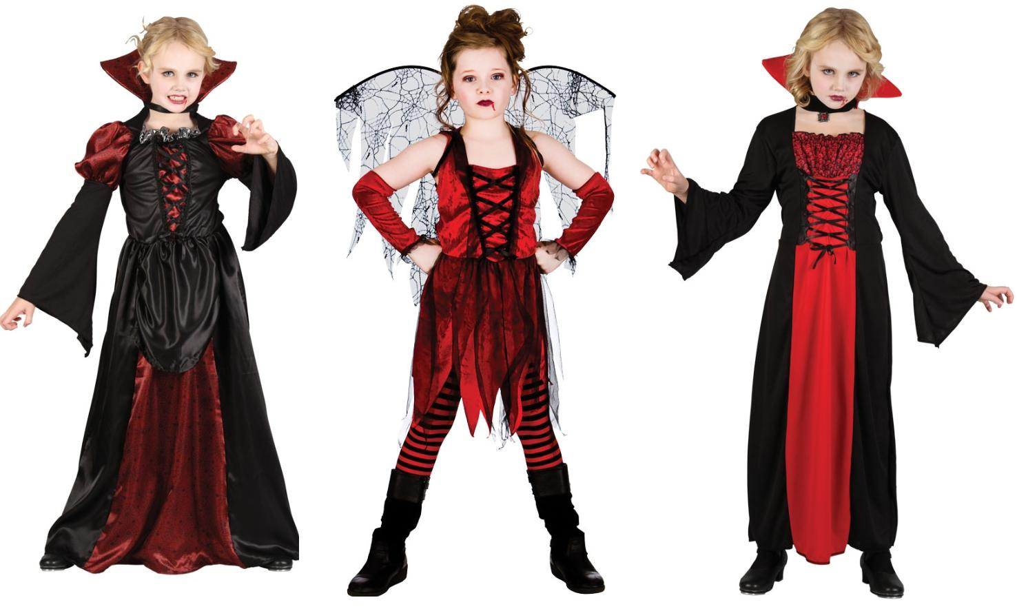 vampiress girls halloween fancy dress costume kids vampire scary outfit age 513 - 5 Girl Halloween Costumes