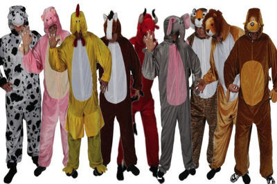 9732f7fe6409 Onesie Zoo Farm Animal Adult Onesies Costume Jungle Book Fancy Dress ...