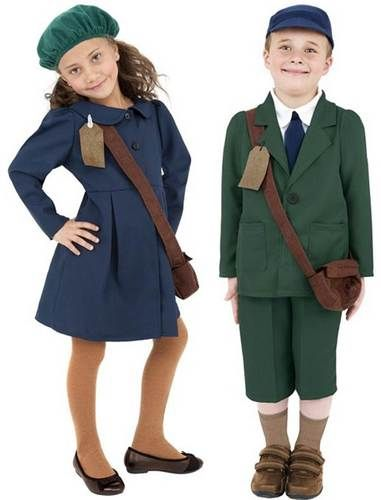 World War 2 Evacuee Childrens Book Week Fancy Dress Costume M,L