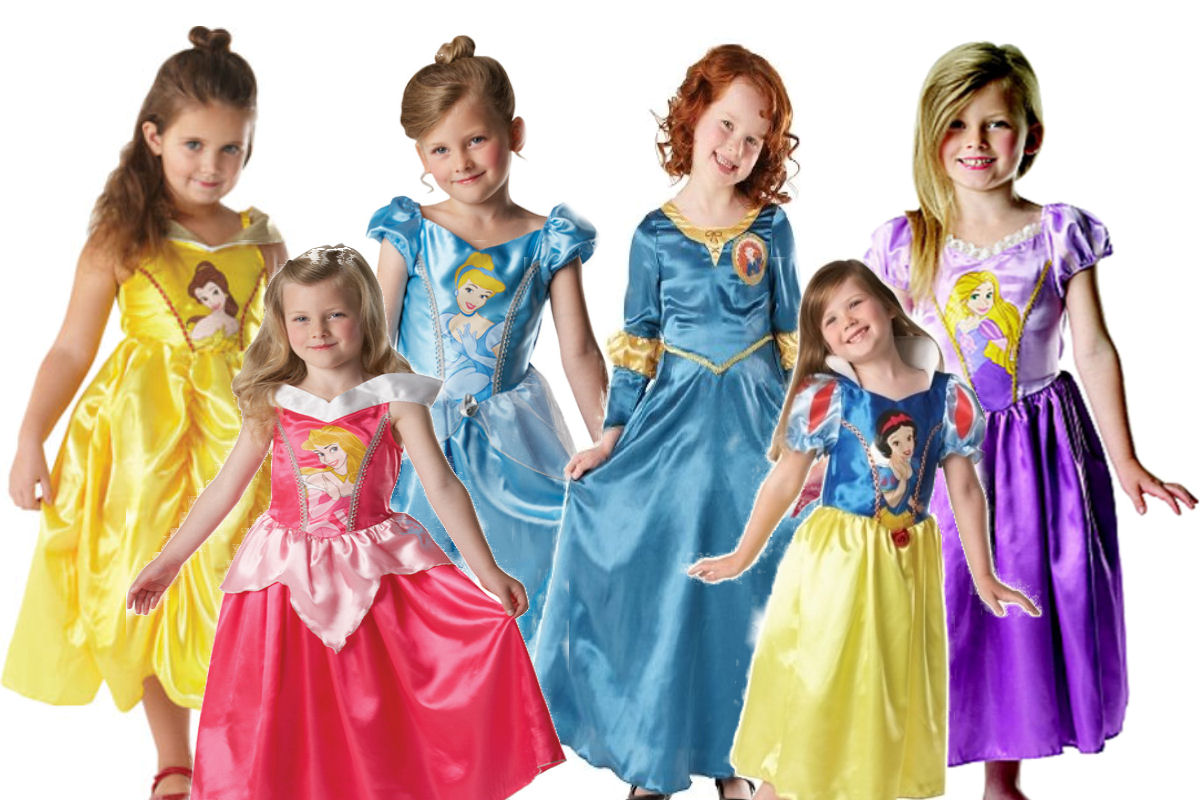 Disney Princess Girls Fancy Dress Kids Costume Childrens Dress Up Ages 5-8 Years | EBay