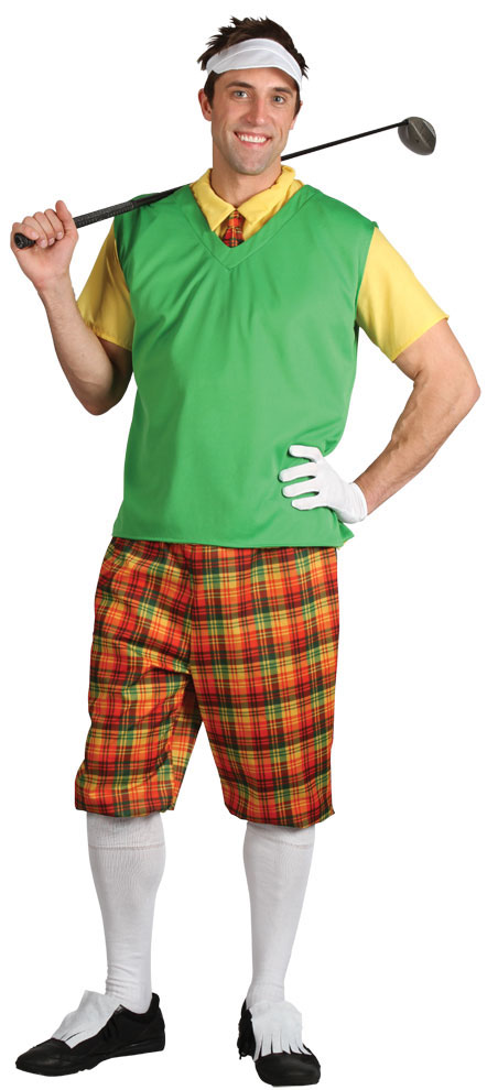 Adults Fancy Dress Golfer Costume Ladies Or Gents Pub Golf Outfits With Hat | EBay