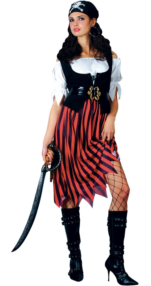 Adult-Ladies-Pirate-Fancy-Dress-Costume-Lady-Womens-Caribbean-Pirates-UK-6-28