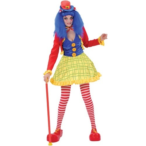 Clown-Costume-Ladies-Circus-Clown-Fancy-Dress-Party-Outfit-2-Designs-6-Sizes
