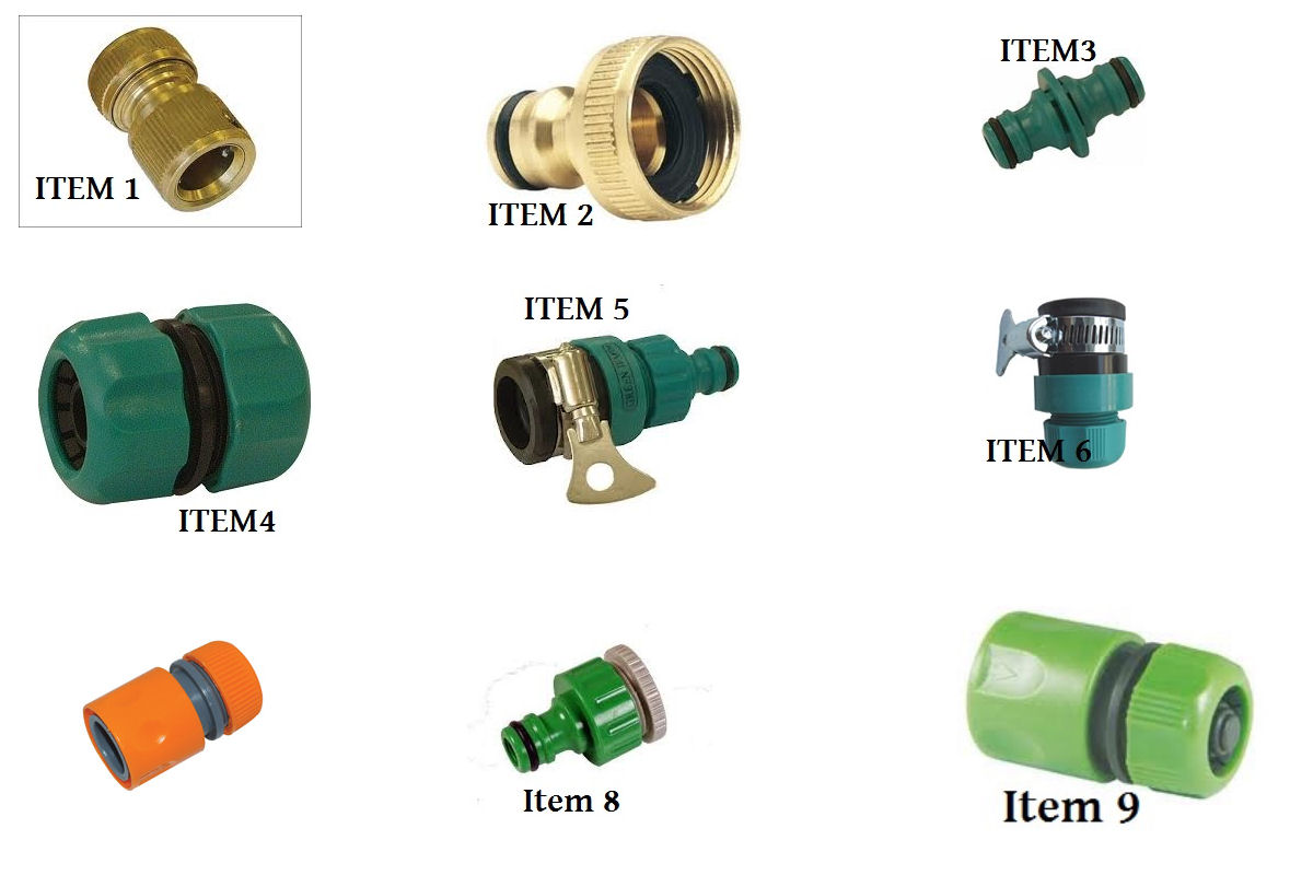 hose connectors fittings garden hoses brass fittings quick. Black Bedroom Furniture Sets. Home Design Ideas