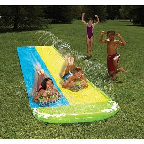 outdoor water slide slip n slide wave rider double 16ft