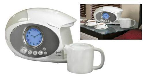 Swan Coffee Maker Alarm Clock : Swan Teasmade Bedside Tea Coffee Maker With Alarm Clock STM100N New eBay