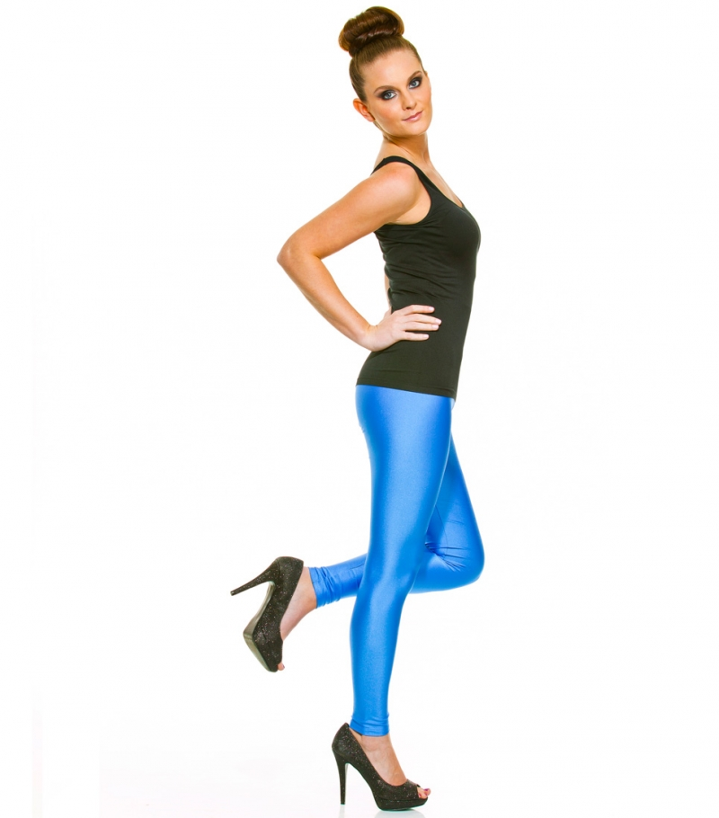 Kiniki Shiny Blue Leggings Poly Elastane | eBay