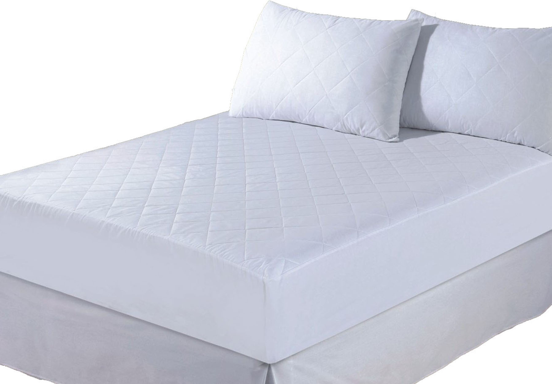 QUILTED MATTRESS PROTECTOR LUXURY FITTED COVER ALL SIZES SINGLE DOUBLE KING NEW