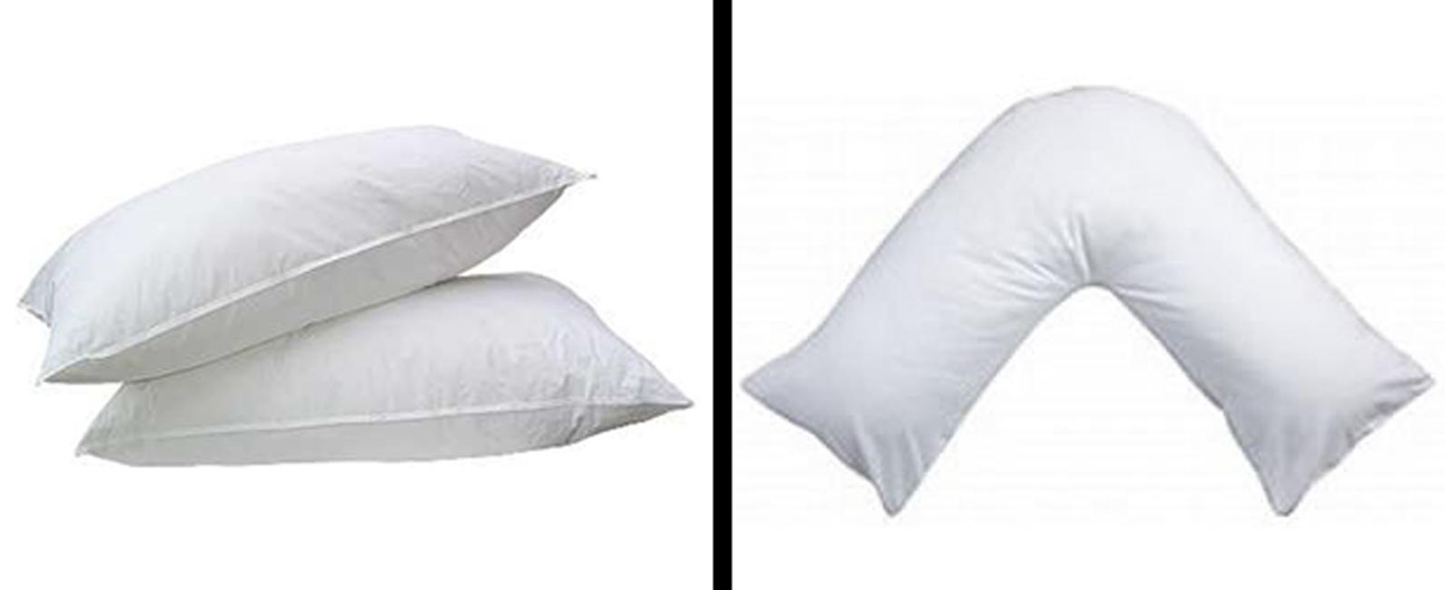 pillows super bounce back v pillow uk new single twin 4. Black Bedroom Furniture Sets. Home Design Ideas