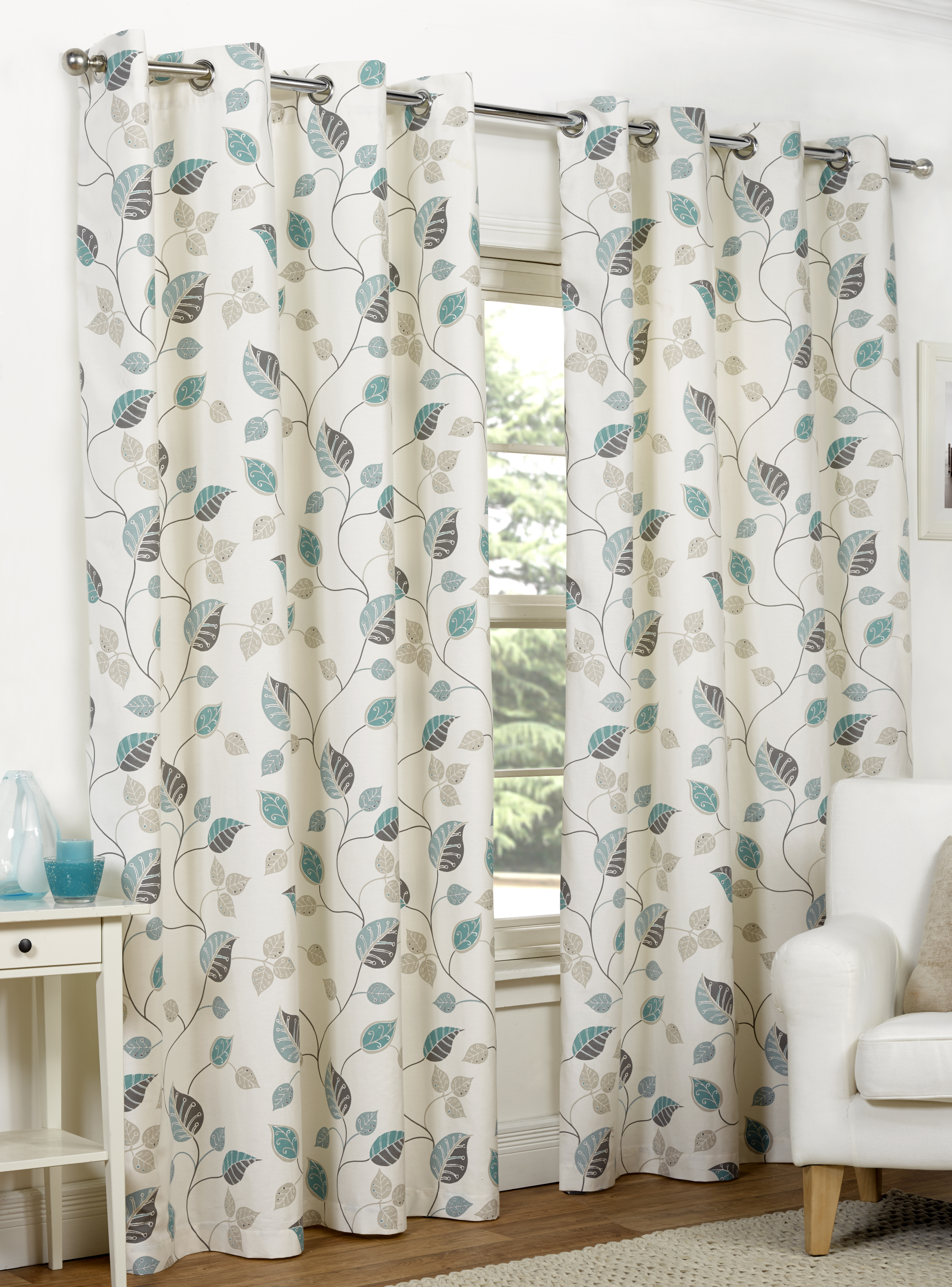Ready Made Curtains Fully Lined Eyelet Ring Top All Sizes