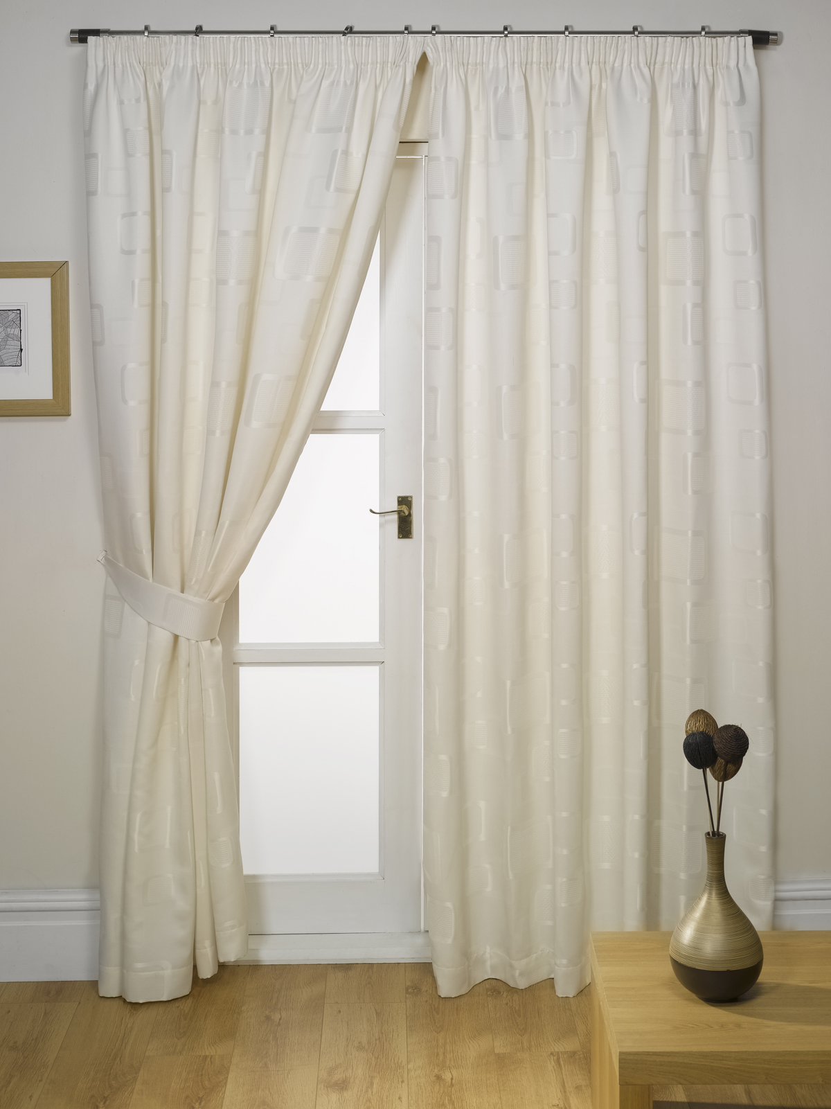 rideaux double haut matelass avec embrasses toutes les tailles et couleurs ebay. Black Bedroom Furniture Sets. Home Design Ideas