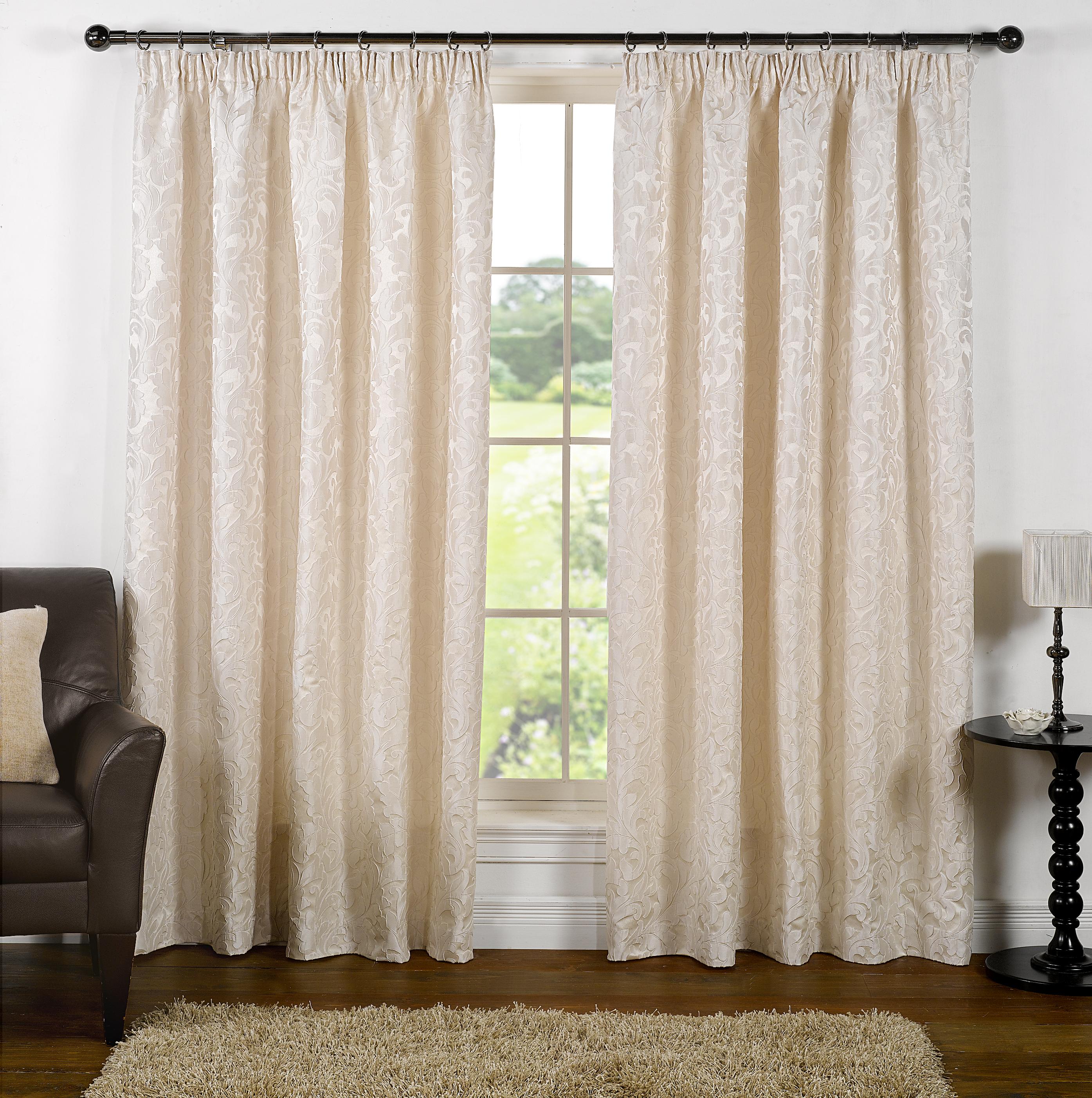 rideaux ruban en jacquard avec embrasses doubl s toutes les tailles ebay. Black Bedroom Furniture Sets. Home Design Ideas