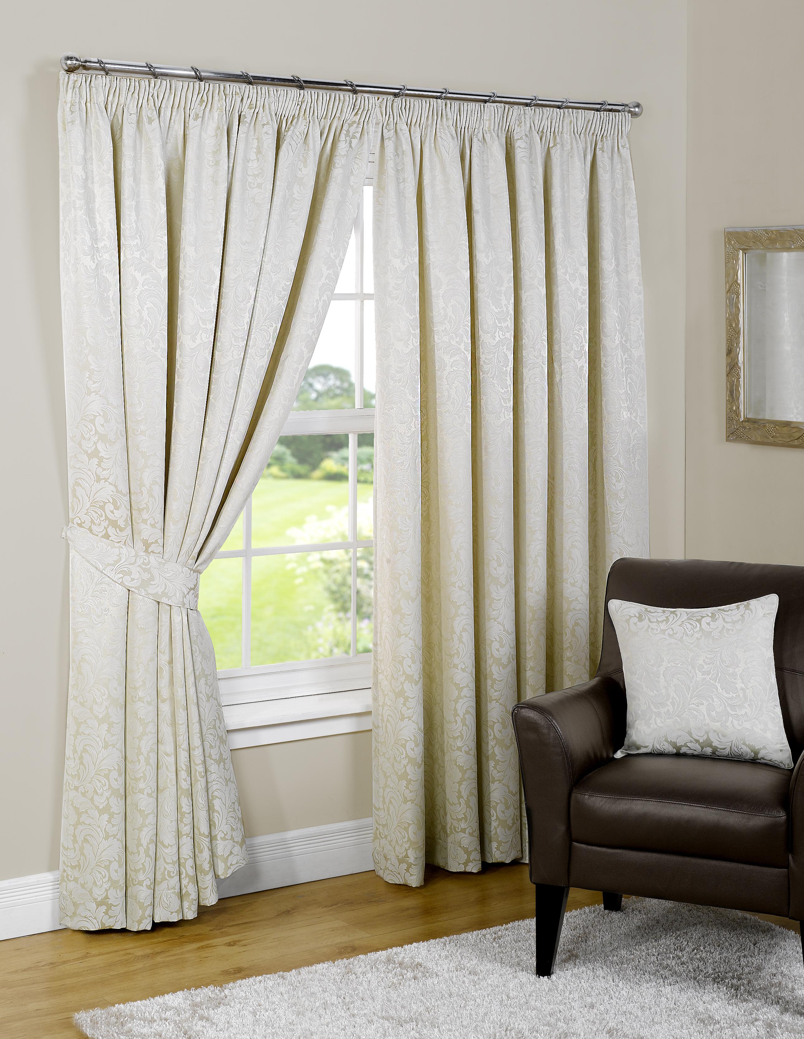 rideaux doubles haut matelass avec embrasses gamme de tailles disponibles ebay. Black Bedroom Furniture Sets. Home Design Ideas