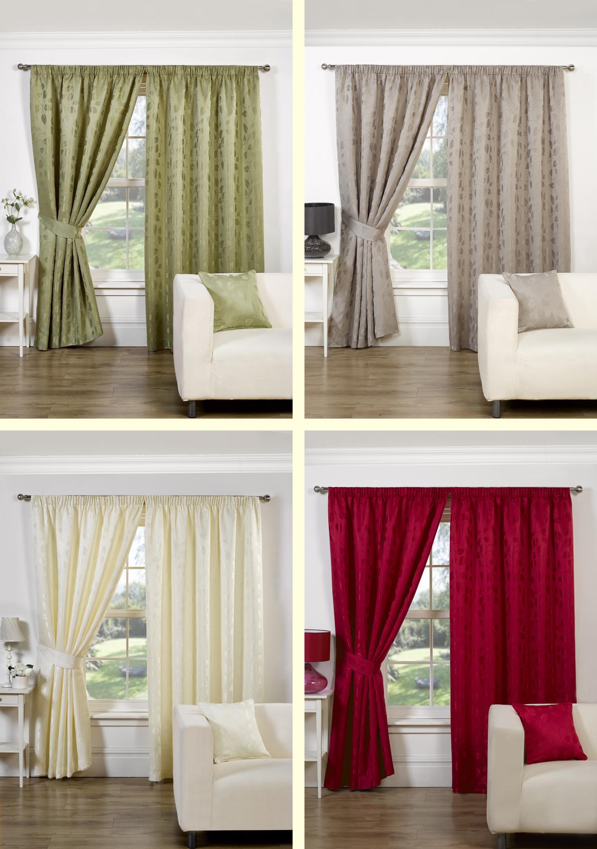 rideaux doubles pr ts emploi avec embrasses vaste gamme de couleurs ebay. Black Bedroom Furniture Sets. Home Design Ideas