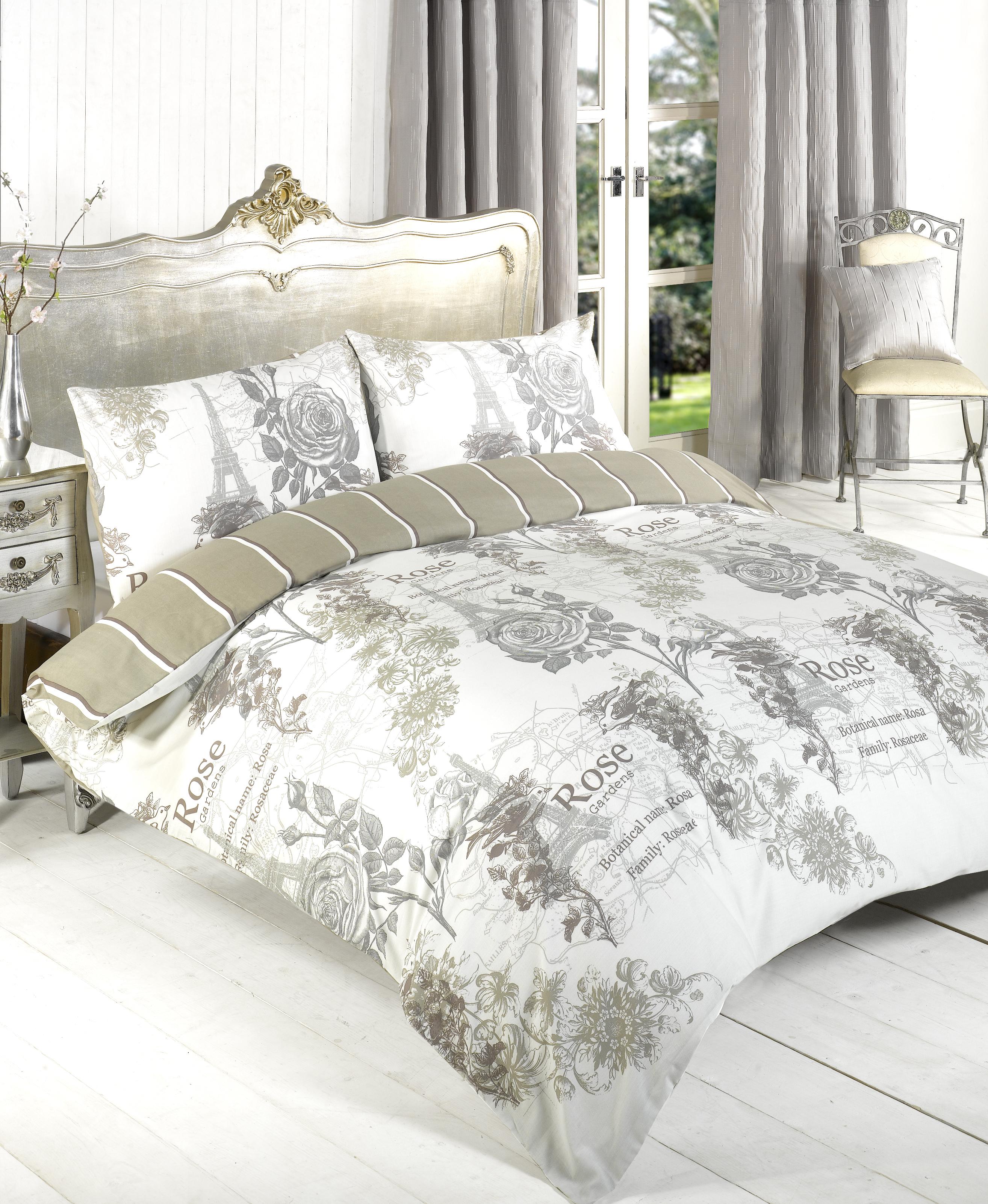 Luxury Paris Duvet Cover Pillow Case Quilt Cover Bedding