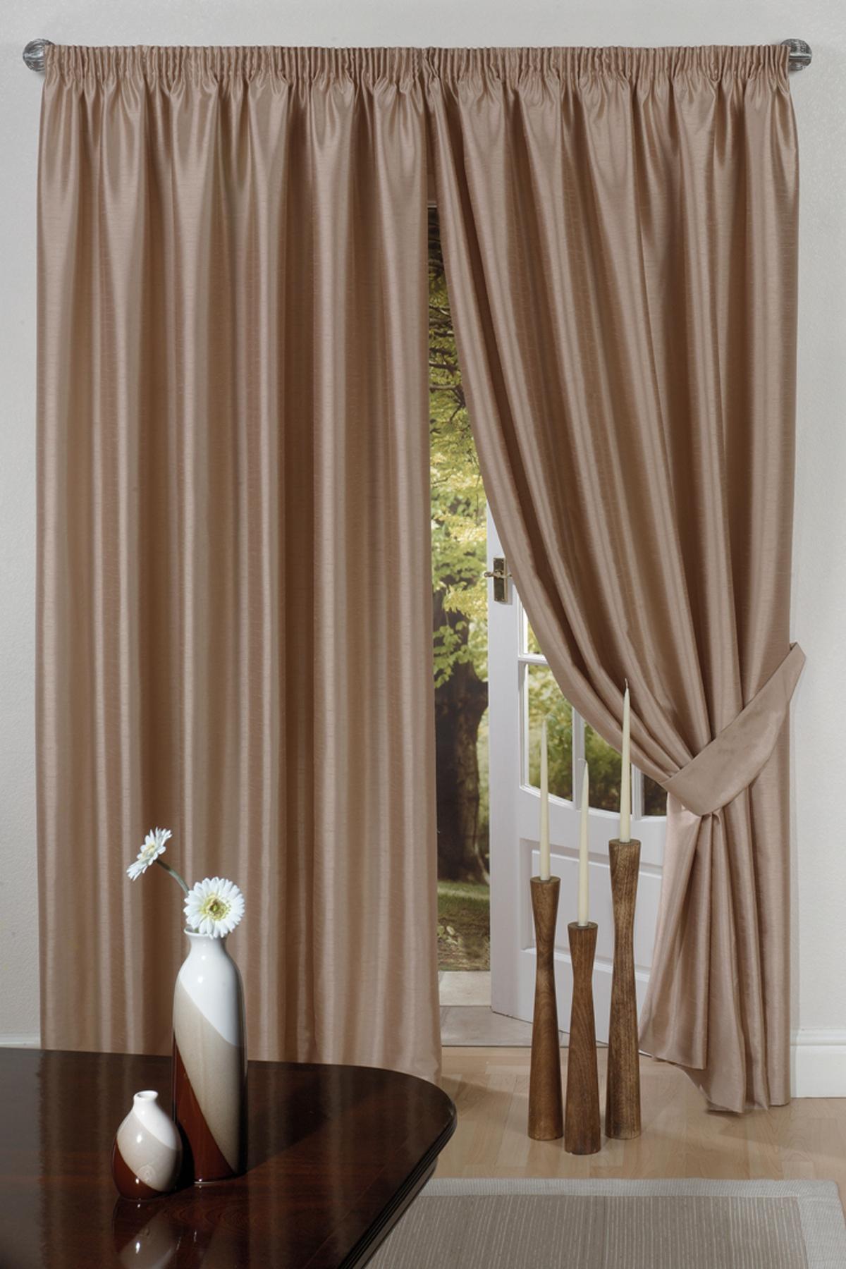 luxus kunstseide vorhang gebrauchsber d nne falten futter raffhalter oben band ebay. Black Bedroom Furniture Sets. Home Design Ideas