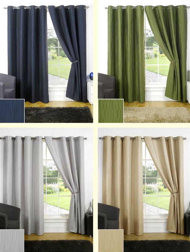rideaux ruban et illets doubl s diff rentes couleurs et tailles pr ts poser ebay. Black Bedroom Furniture Sets. Home Design Ideas