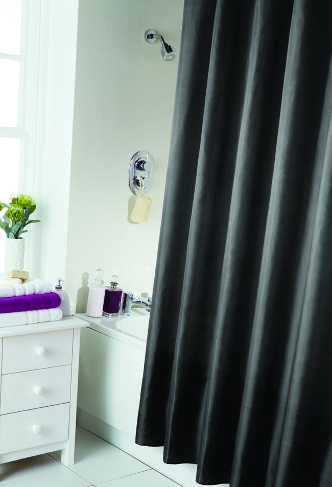 dusch vorhang schlicht modern badezimmer extra lang mit. Black Bedroom Furniture Sets. Home Design Ideas