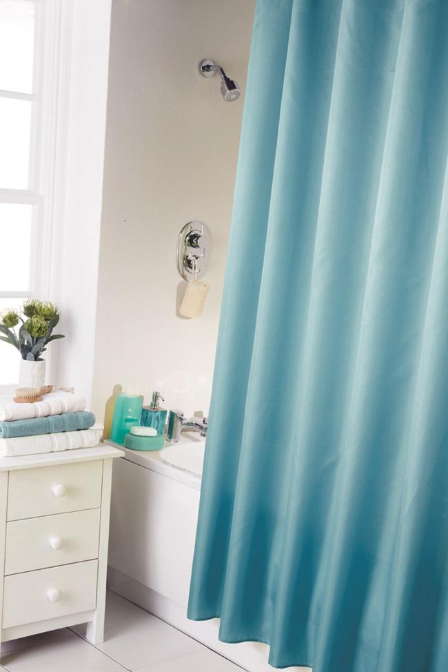Cortinas De Baño Mas Largas:Cortinas-ducha-lisas-modernas-extra-largas-y-de-calidad-con-ganchos-de