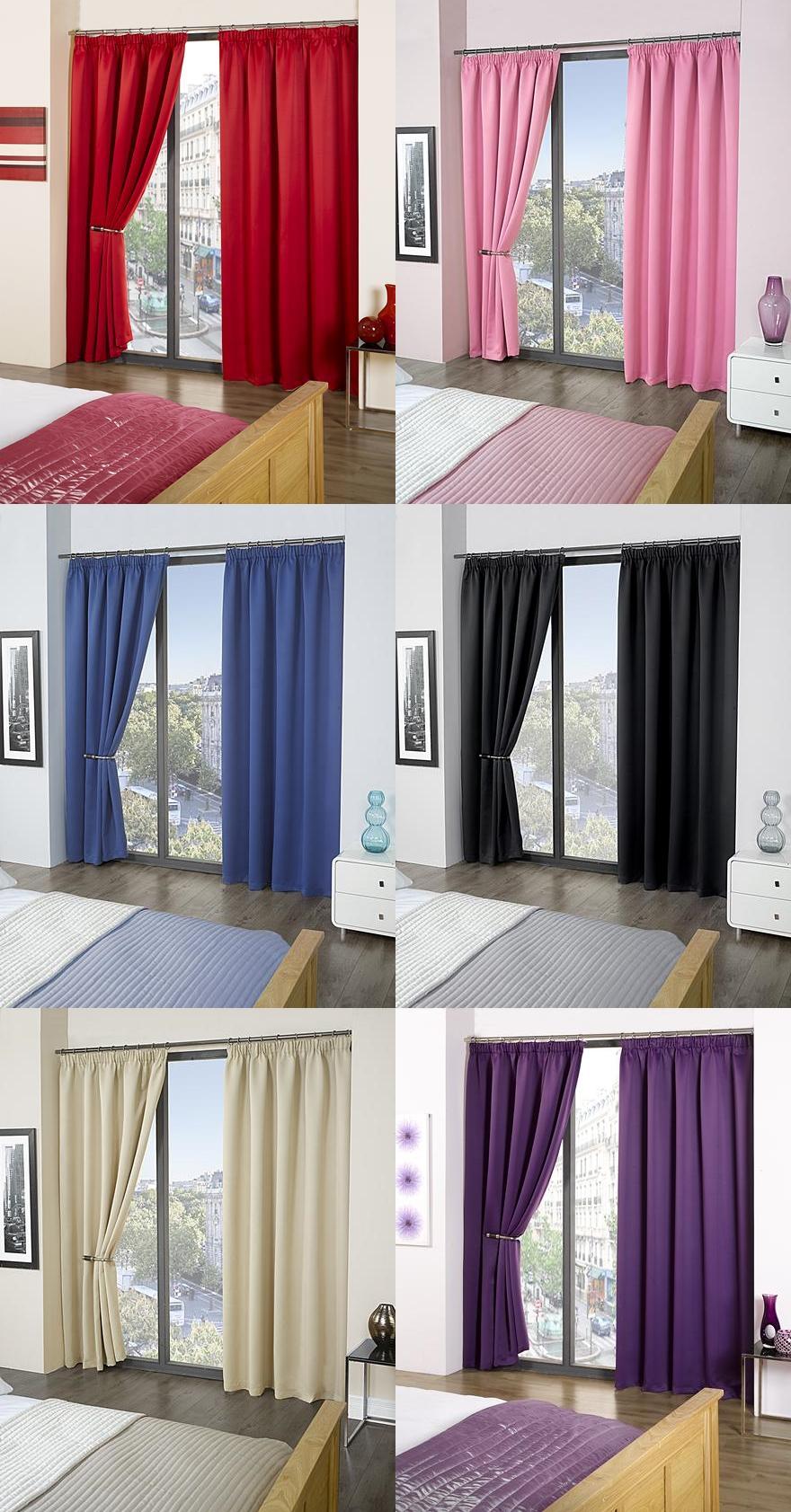 rideaux isolants opaques embrasses incluses haut de gamme ebay. Black Bedroom Furniture Sets. Home Design Ideas
