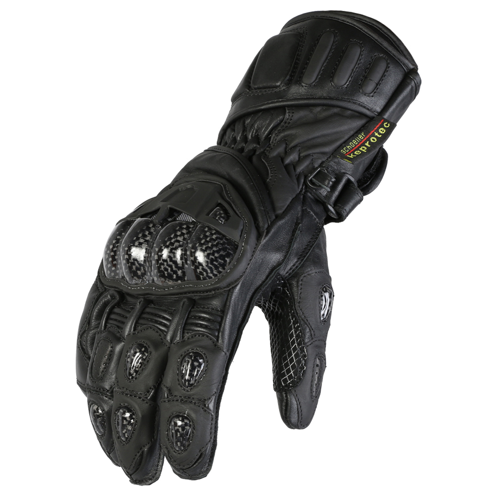 Texpeed All Black Leather Gloves