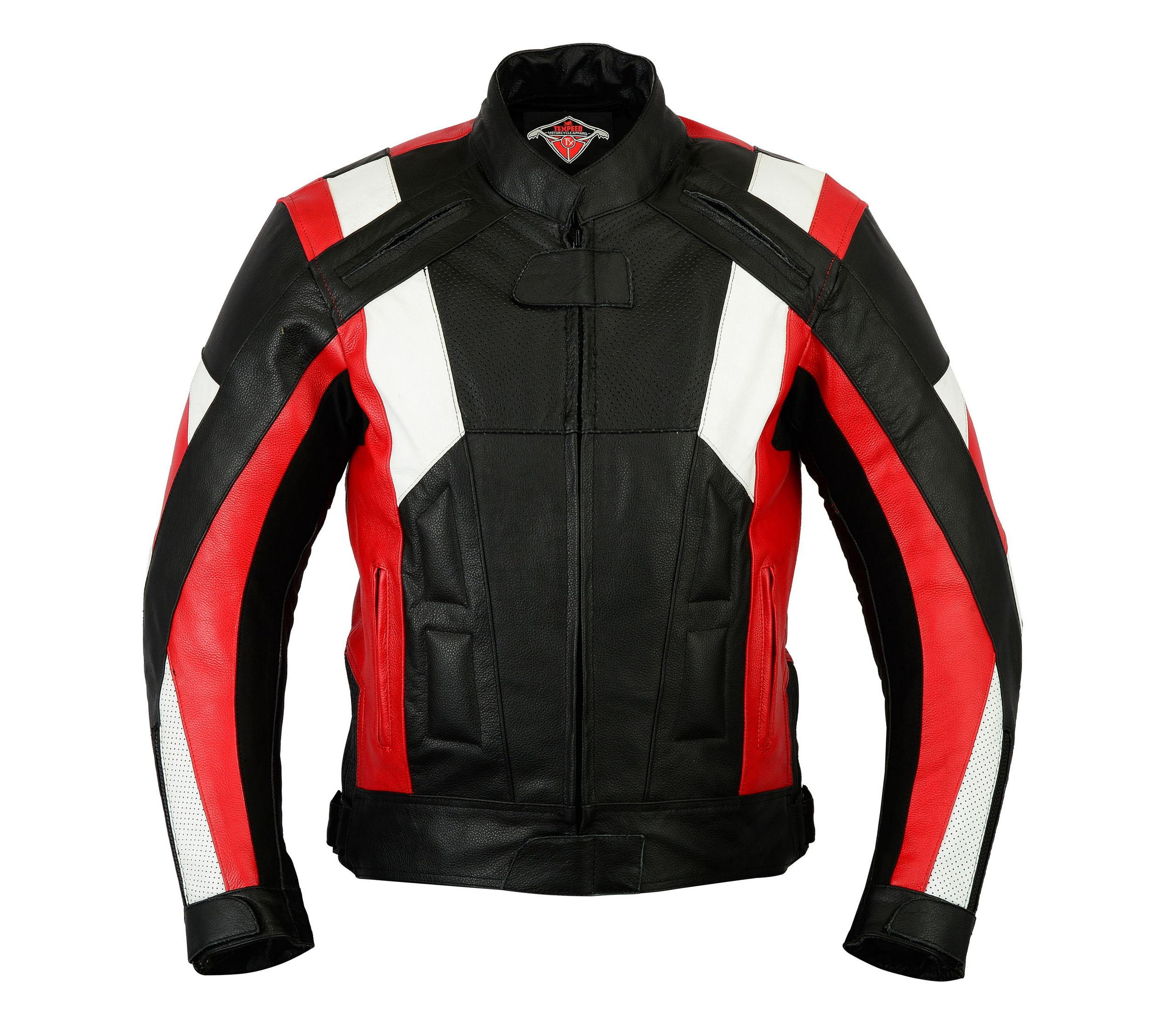 Texpeed Mens Ferrara Leather Racing Jacket | Leather Jackets ...