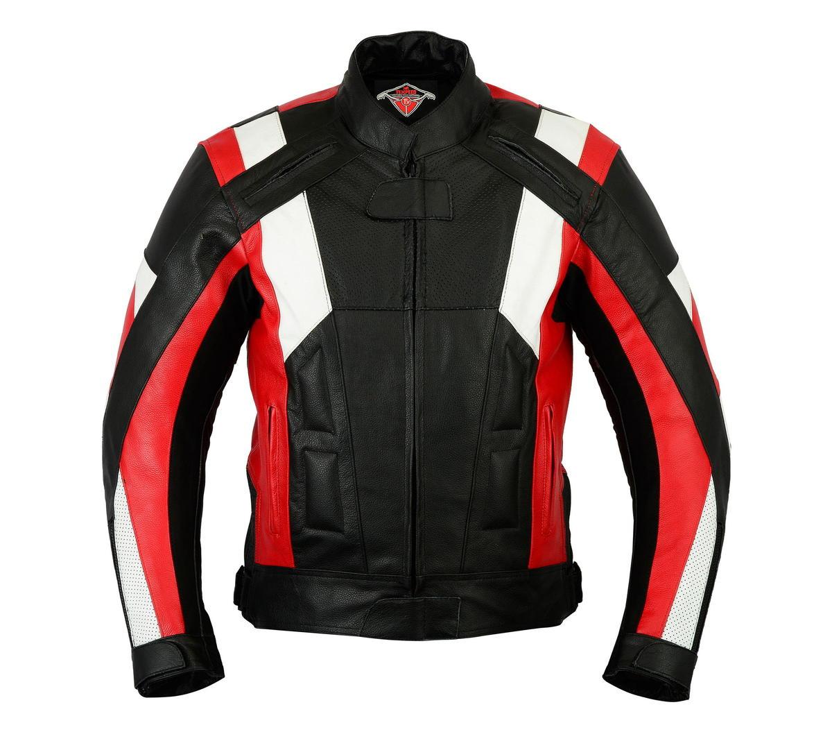 Texpeed Mens Ferrara Leather Racing Jacket