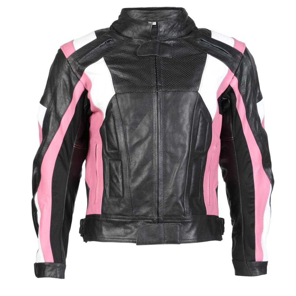 Pink womens motorcycle jacket