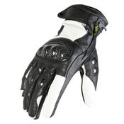 Texpeed Short Black & White Leather Gloves