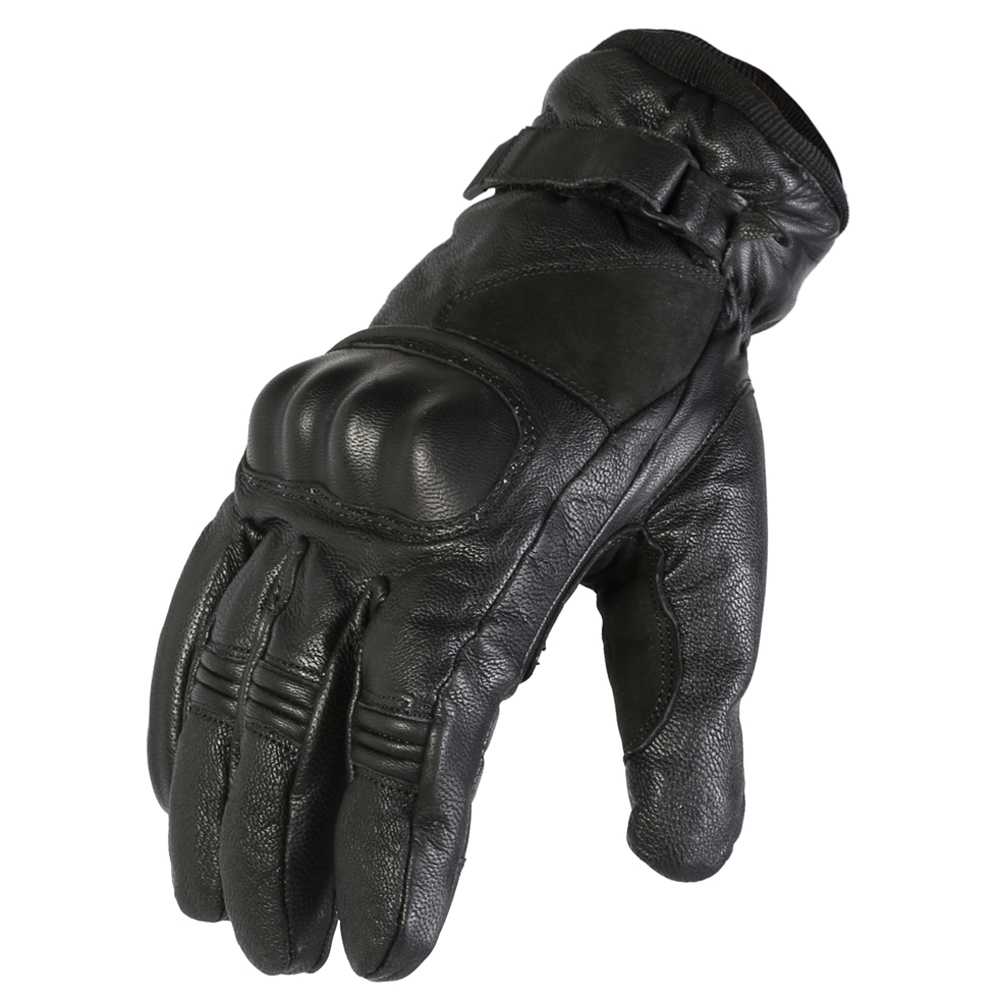 Texpeed Waterproof Black Protective Leather Gloves
